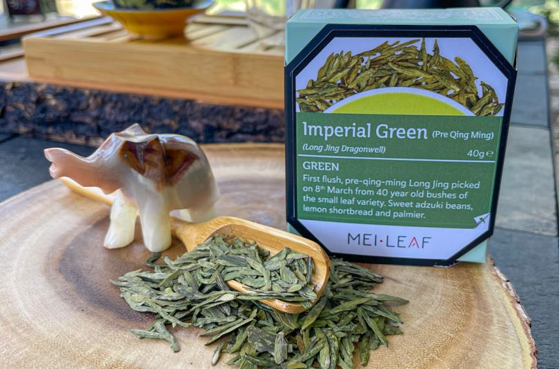 Imperial Green Dragonwell – Mei Leaf