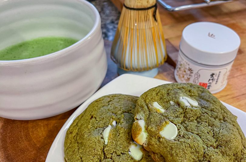 Matcha Cookies – Brown Butter, White Chocolate, Walnuts